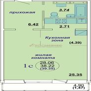 фото 1комн. квартира Новосибирск ул Бронная, д. 45/2