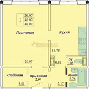 фото 1комн. квартира Новосибирск ул Бронная, д. 32/2